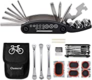 Oumers Multi-Function Bike Bicycle Cycling Mechanic Repair Kit/Bike Tool with 3pc Bike Tire Lever 5pc Bike Tyr