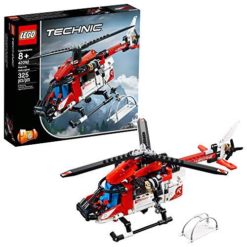 LEGO Technic Rescue Helicopter 42092 Building Kit, 2019 (325 Pieces)