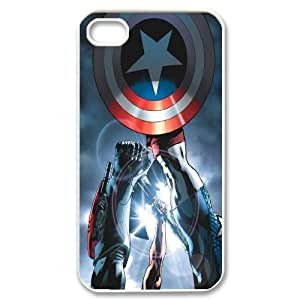 Custom High Quality WUCHAOGUI Phone case Caption American Pattern Protective Case For Iphone 4 4S case cover - Case-8