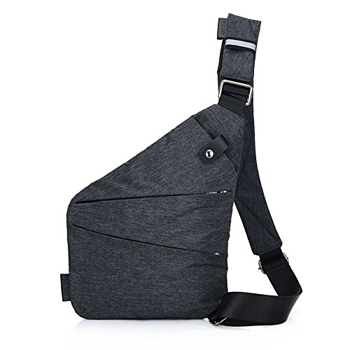 Beatsport - Bolso al hombro de Lona para hombre negro Left shoulder Style Talla única Right shoulder Style