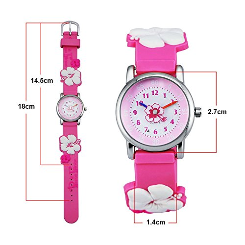 Kids Watch my first Easy Reader Wrist Watches Boys Girls Toddler Waterproof Children Time Teacher 3D Cute Cartoon Silicone Quartz Learning Gift for Little Child by Meetyoo (Image #1)