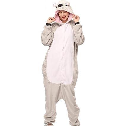 SHANGXIAN Animal Pijama Cosplay Disfraz Unisexo Adulto Grey Koala Onesies Ropa De Dormir,S