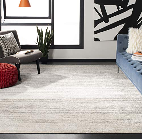 Safavieh Adirondack Collection ADR113B Ivory and Silver Modern Abstract Area Rug (11' x 15')
