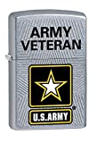 US Army Veteran Zippo Outdoor Indoor Windproof Lighter Free Custom Personalized Engraved Message Permanent Lifetime Engraving on Backside