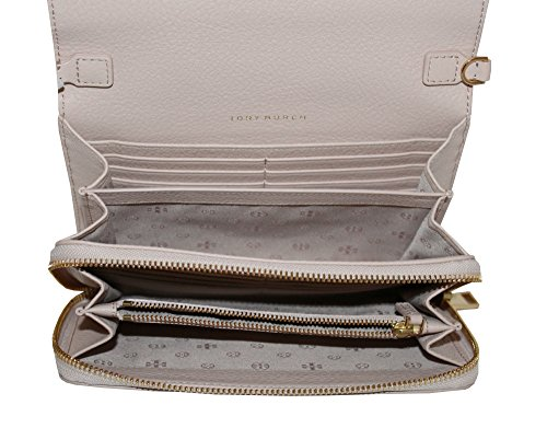 Bombe Small Tory Light Oak Crossbody Women's Leather Burch Wallet Bag Flat Handbag gqw8PEnrq