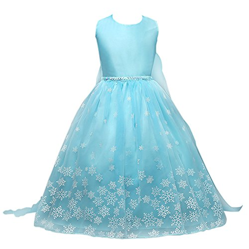 Acecharming Little Girls' Snowflakes Dress Princess Christmas Party Fancy Costume (6-7Y) (Fancy Dress Costume)
