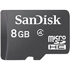 Sandisk flash memory card - 8 gb - microsdhc, black (sdsdqm-008g-b35) 1 seamless speed and performance with microsdhc turn your mobile phone into the portable entertainment center form factor: microsdhc