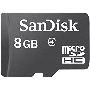 Sandisk Flash Memory Card - 8 GB - MicroSDHC, Black (SDSDQM-008G-B35)