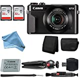 Canon PowerShot G7 X Mark II Digital Camera Video Creator Kit + 32GB Card + Deluxe Camera Case + LED Video Light + USB Card Reader + Wallet + Ultimate DigitalAndMore Video Kit (Cyber Monday Deal!)
