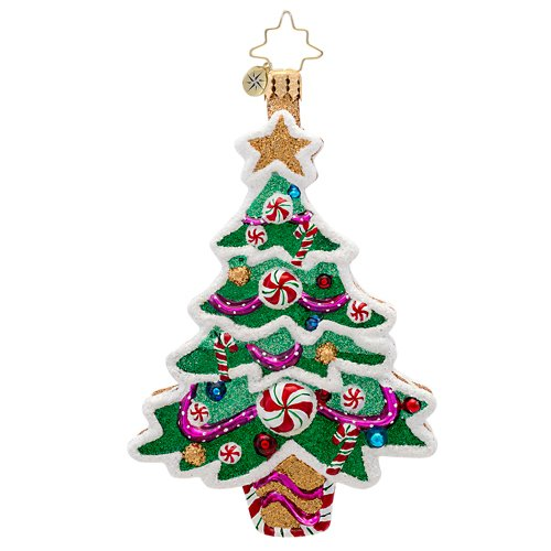 "Christopher Radko Sweet Tooth Tree Gingerbread Themed Christmas Ornament - New for 2014 - 4.75""h."