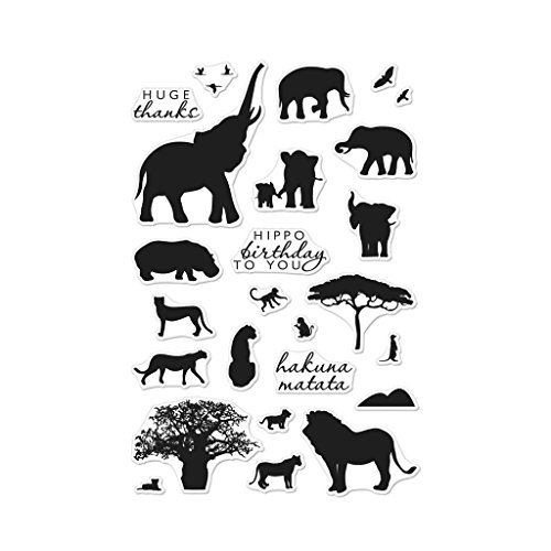 Hero Arts CM217 Clear Stamps 4''X6'' Safari Huge Thanks, Multi by Hero Arts