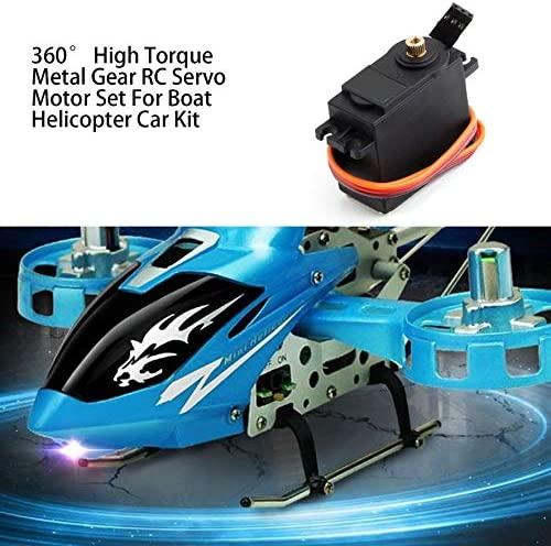 360/° High Torque Metal Gear RC Servo Motor Set for Boat Helicopter Car Kit