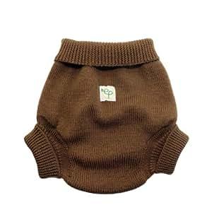 EcoPosh - Cubrepañal (talla 2, lana), color marrón