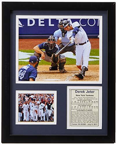 - Legends Never Die Derek Jeter 3000th Hit Framed Photo Collage, 11x14-Inch