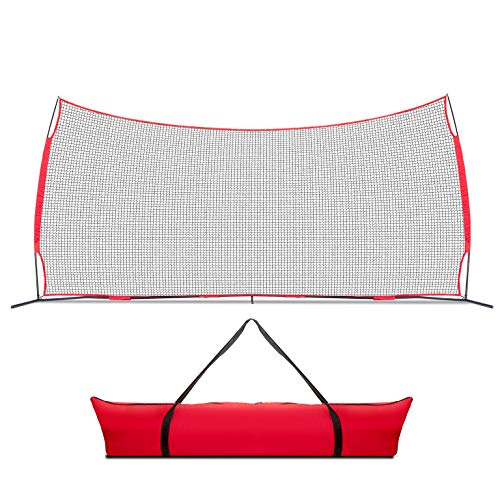 Lacrosse Scoop 20x10 Foot Sports Backstop, 200 Sq Feet of Protection Perfect for Lacrosse, Soccer, Baseball, Softball, Basketball