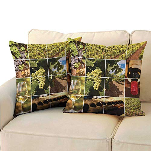 Nectar Vineyards (Ediyuneth Pillowcases Bulk Vineyard,Vineyard Grapes Landscapes 18
