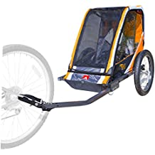 Allen Sports 1-Child Steel Bicycle Trailer- Orange
