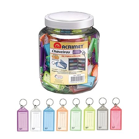 Acrimet Keyring Tags Assorted Colors
