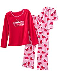 Girl's Size 4 Cocoa, Marshmallows Pajama Set with Doll Gown