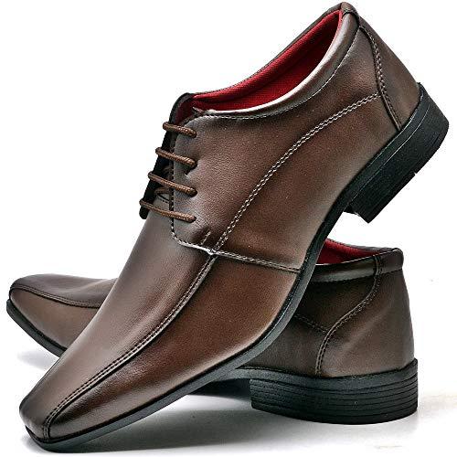 Sapato Social Com Cadarço Masculino Top Flex R804DB Tamanho:44;cor:Marrom;gênero:Masculino