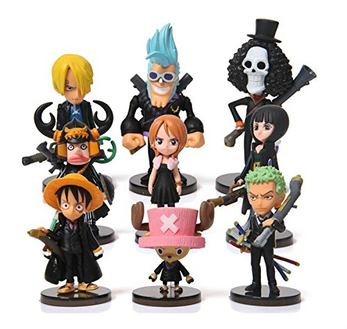 Andy Candy One Piece Theatre version 9Pcs Cartoon Anime Plastic Toys Doll Model
