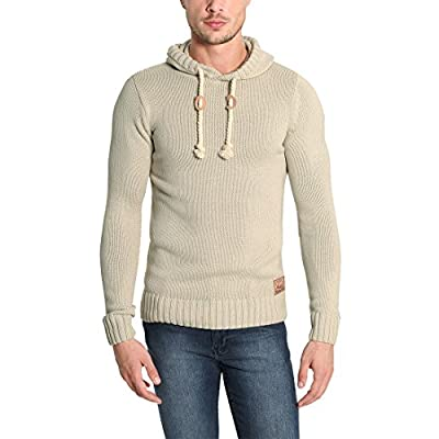 4a3a4fe2a Solid Pitu Pull d'hiver Pull en Grosse Maille À Capuche Pull-Over ...