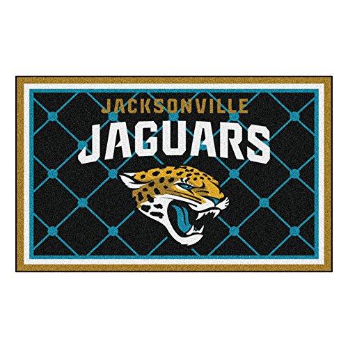 FANMATS NFL Jacksonville Jaguars Nylon Face 4X6 Plush Rug