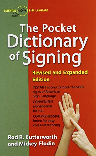 The Pocket Dictionary Of Signing (American Pocket Thesaurus)