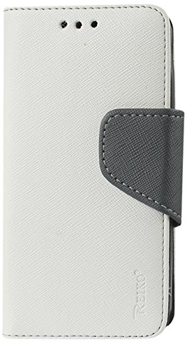 Reiko 3-In-1 Wallet Case for Nokia Lumia 635 with Interior Leather-Like Material and Polymer Cover - Retail Packaging - White (635 1)
