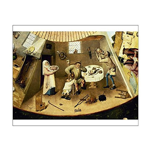 10x8 Print of Table of the Seven Deadly Sins by Hieronymus Bosch (14406372) ()