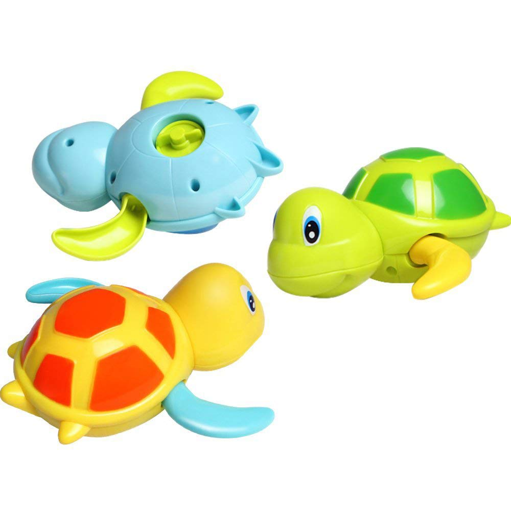 Baby Bath Toy, Dmeixs Wind Up Bath Toys,Turtle Bathtub Toys for Toddlers, Floating Toys BPA free, Eco-friendly Material, 3 Pack