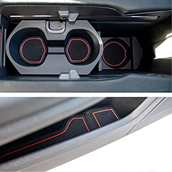 Pu Leather Center Armrest Box Cover Trim For Honda Civic 2016-2018 3pcs//Set Gift