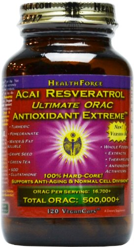 NEW REFORMULATED ACAi RESVERATROL ! Ultimate ORAC Antioxidant Extreme120 VCaps