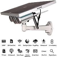 Funxwe 4G LTE 3G GSM Wireless Network 1080P Solar Power IP Camera Starlight Vision WiFi Outdoor Surveillance Battery Powered SIM Card Slot