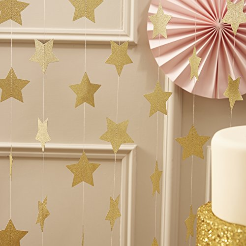 ginger-ray-pastel-perfection-sparkling-star-garland-bunting-for-weddings-or-parties-gold