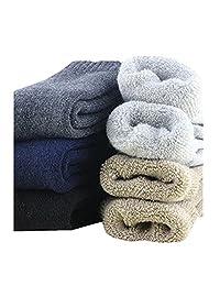 3-5 Pack Men Extra Thick Wool Dress Socks Thermal Winter Boot Socks 8-14US