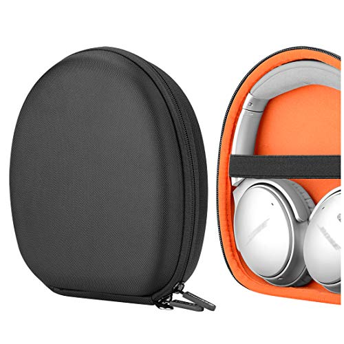 Geekria UltraShell Headphone Case for Bose QC15, QC35 II, QC25,  Protective Hard Shell Travel Carrying QuietComfort Headphones Case with Room for Accessorie