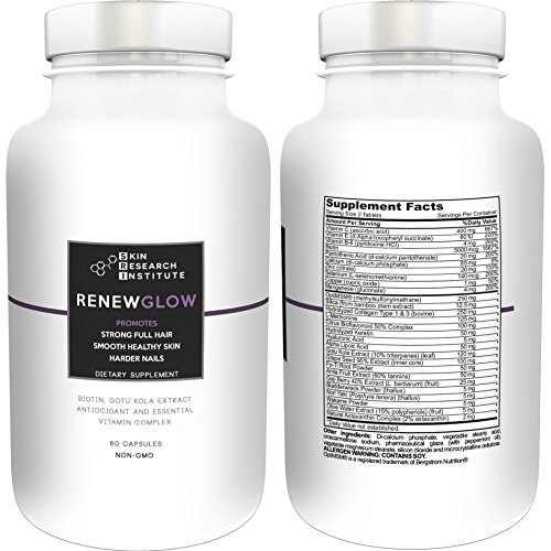 512Tjs2B1%2BL - Renewglow - Anti Aging Supplement Fights Against Biotin Deficiency, Free Radicals and Prevents Oxidation to Restore Hair and Skin for A Healthy Glow (2 - Pack)