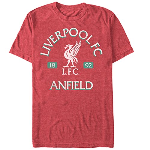 Fifth Sun Official Liverpool FC Vintage Reds- Premium Men's Tee, Heather, x-Large
