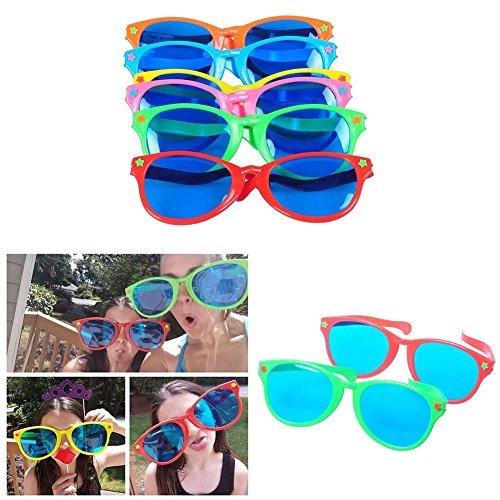 Feeko Jumbo SunGlasses,Jumbo Sunglasses Novelty Plastic Photo Booth Glasses Fun Shutter Shades for Costumes Cosplay Props Party Supplies Variety