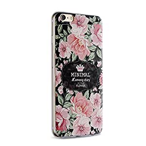 Saxon case_Chinese rose_iPhone 5s Case, Cute Cartoon Case/DIY patterns TPU Case Back Cover Protector Skin For iPhone 5s