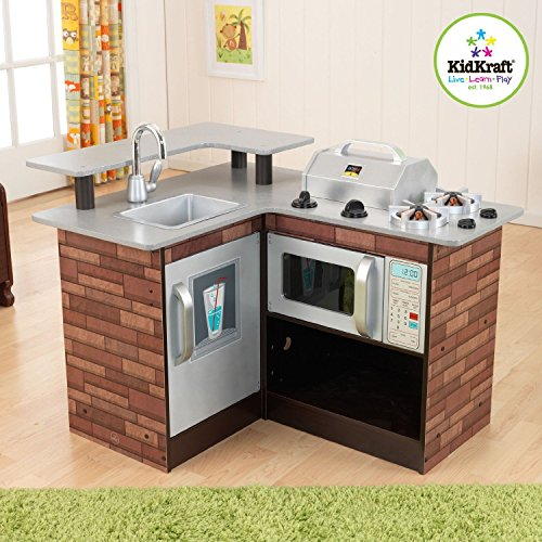 Kidkraft Chillin' & Grillin' Wooden Kitchen Chill and Grill 53311 Brand New by KidKraft