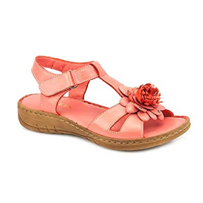 9b27bd1d7ae0 Pavers Embellished Leather Sandal 309 593 - Pink Size 5 (38)  Amazon ...