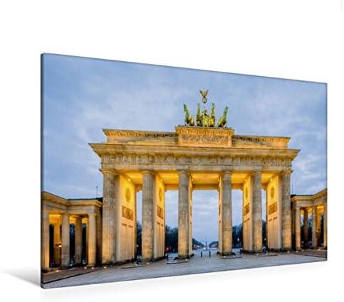 Calvendo Premium Tela In Tessuto 120 Cm X 80 Cm Orizzontale, Porta Di Brandeburgo Berlino, Immagine Su Telaio, Su Vera Tela, Stampa Su Tela Orte