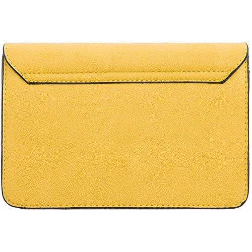 Clasp KT2142 Messenger Body Purse Clutch Bag Cross Diamante Ladies Yellow Women's Handbag 7wgB5x
