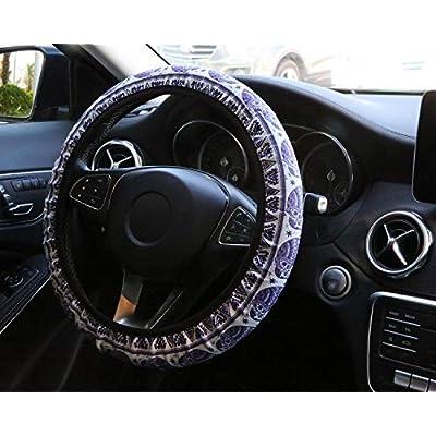 YR Universal Steering Wheel Covers, Cute Car Steering Wheel Cover for Women and Girls, Car Accessories for Women, Elephant: Automotive