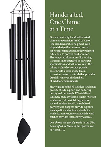 Music of the Spheres - Pentatonic Soprano, Wind Chime, Handcrafted, Precision Tuned, Weather-resistant, 30'' by Music of the Spheres (Image #2)