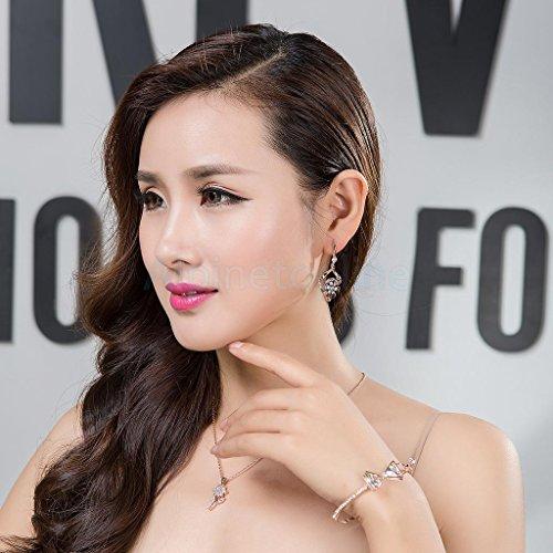 Filigree Floral Drop - Sweet Zircon Filigree Floral Dangle Drop Earring Women Girls Ear Jewelry