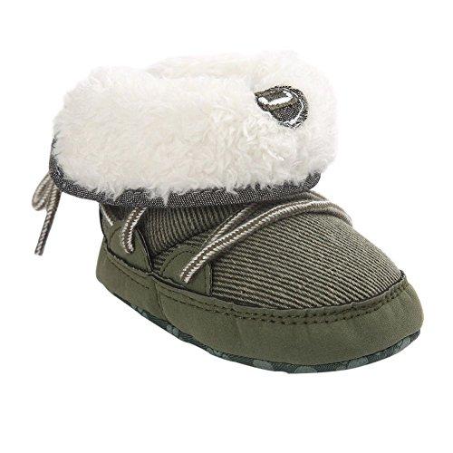 Moresave - botas de nieve Bebé-Niñas verde de rayas