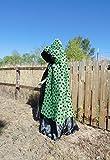 Amazing unisex onesize black and green Hooded cape!